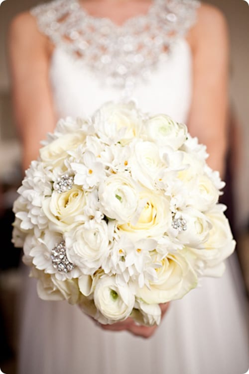 White Wedding Bouquet Brides Up North Katy Melling Photography
