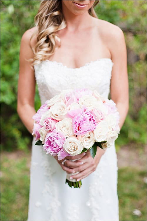 light pink wedding bouquet Wedding Chicks Cassi Claire
