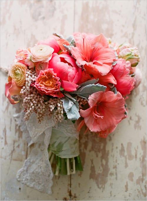 Wedding Chicks peach_wedding_flowers Lane Dittoe