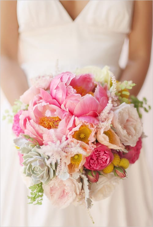 pink wedding bouquet Wedding Chicks Leila Peterson