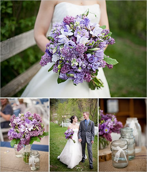 purple wedding bouquet Wedding Chicks Brooke Trexler