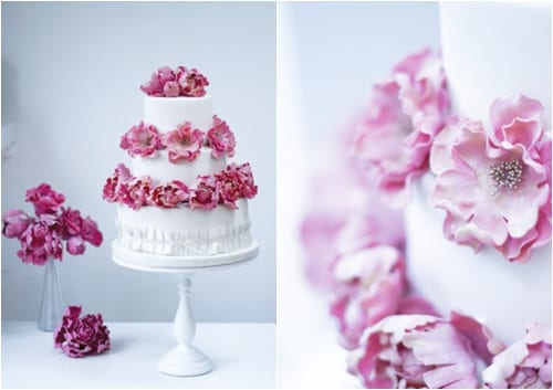 Stunning floral-inspired wedding cakes from award-winning cake designer Rosalind Miller