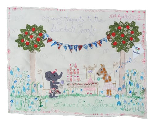 Amaras-Tea-Party-in-the-Bluebell-woods-commission-Laura-Rose-Textiles