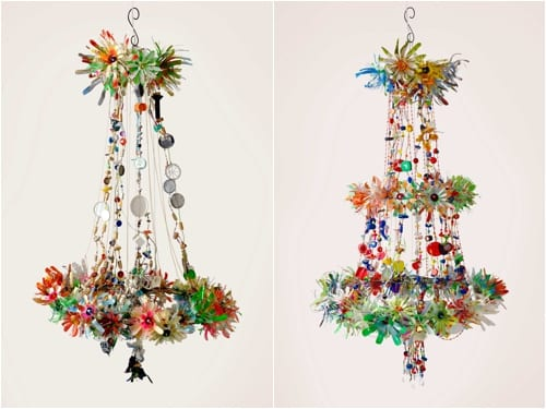 Anthropologie Floral Burst Chandeliers
