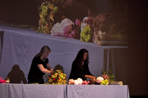 Paula Pryke's floristry demonstration in Guildford