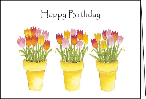 The Flower Card Company - Tulip Pots