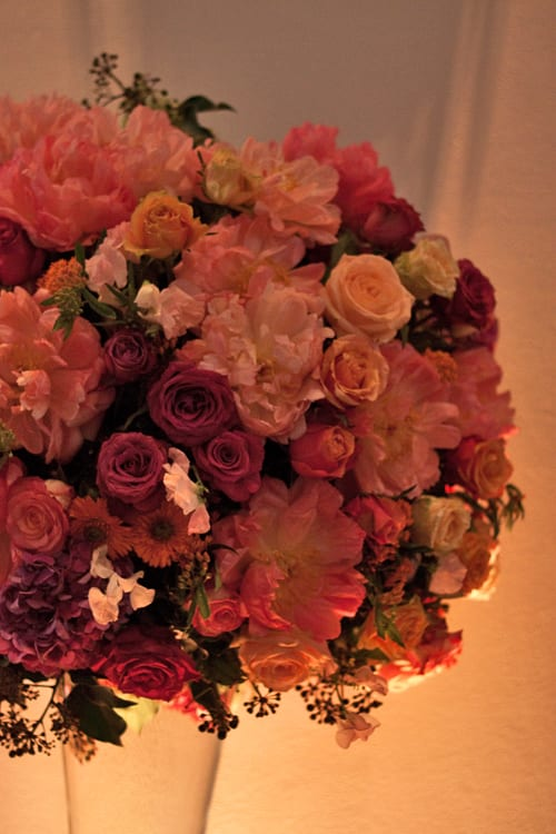 Stunning floral designs by florist Hayford & Rhodes at their New Website Launch Party