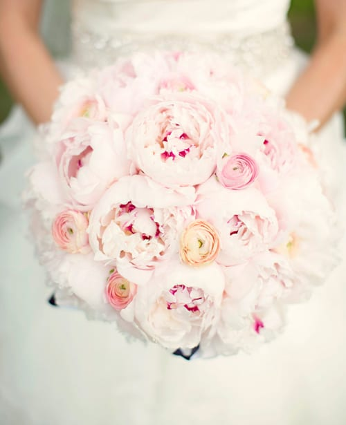 Pink-Bridal-Bouquet-Kristen-Taylor-Photography-The-Knot