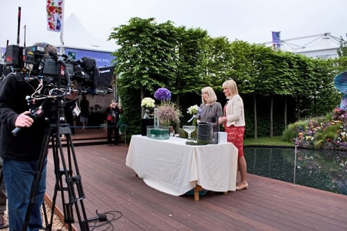 RHS Chelsea Flower Show 2013 – Behind the Scenes : BBC Flower Shows – Nicki Chapman & Gillian Wheeler