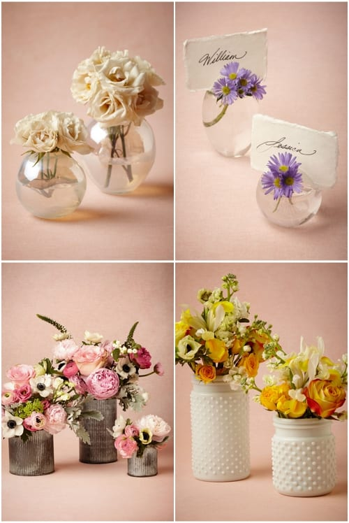 BHLDN floral inspired wedding accessories