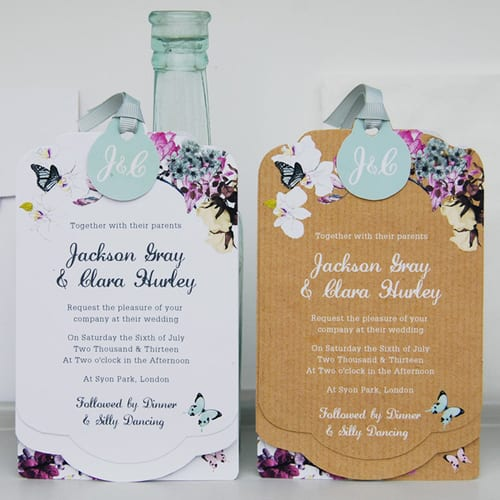 Floral inspired wedding stationery by Eagle Eyed Bride