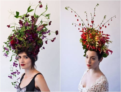 Stunning botanical headpieces by Francoise Weeks