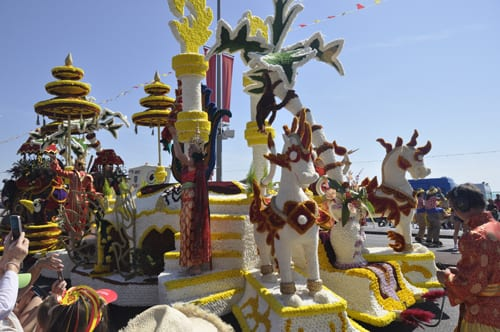 The Jersey Battle of Flowers, one of the largest Floral Carnivals in Europe