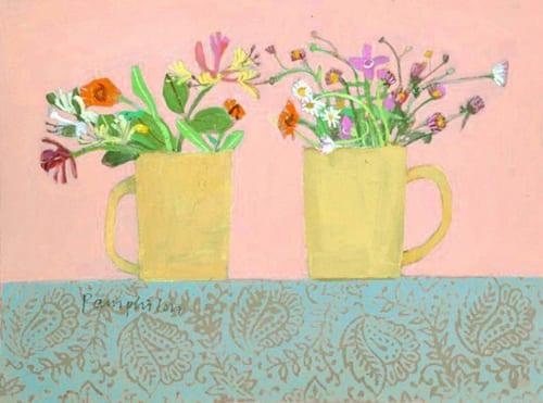 Elaine-Pamphilon-rosas-garden-flowers-in-yellow-mugs5