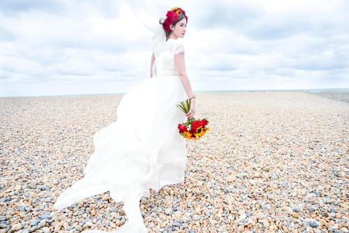 Wedding Wednesday: A romantic beach styled wedding shoot