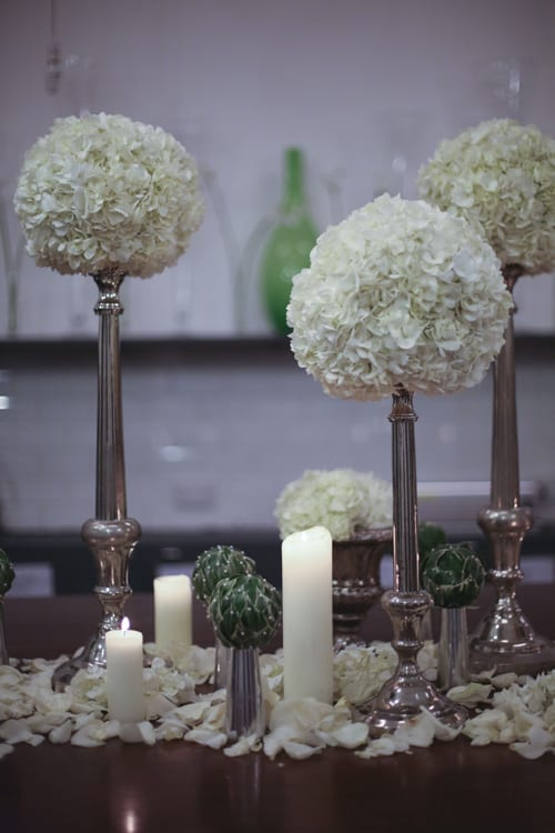 Stunning floral designs at the florist McQueens website launch party