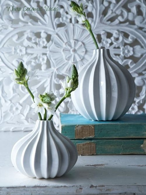 Nordic-House-White-Ceramic-Vases