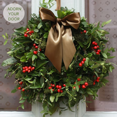 Would you like to make your very own christmas wreath for How to make christmas door wreaths