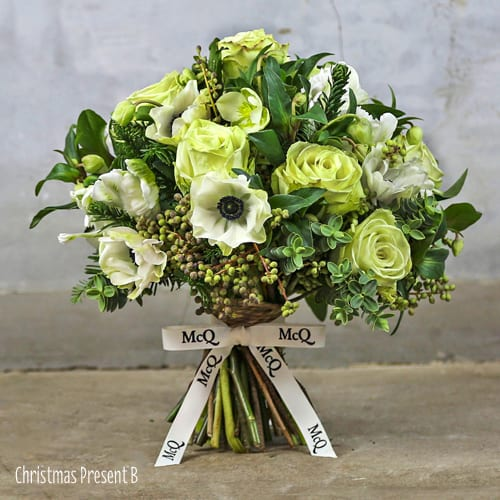 Wonderful Christmas themed bouquets from London florist McQueens