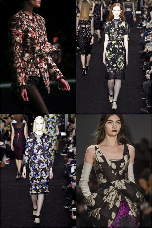 GoRunway Vogue Dark Florals Fashion