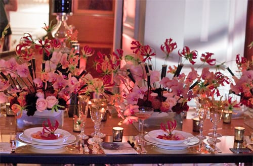 Beautiful wedding flower designs by Neill Strain at Quintessentially Weddings' Atelier event