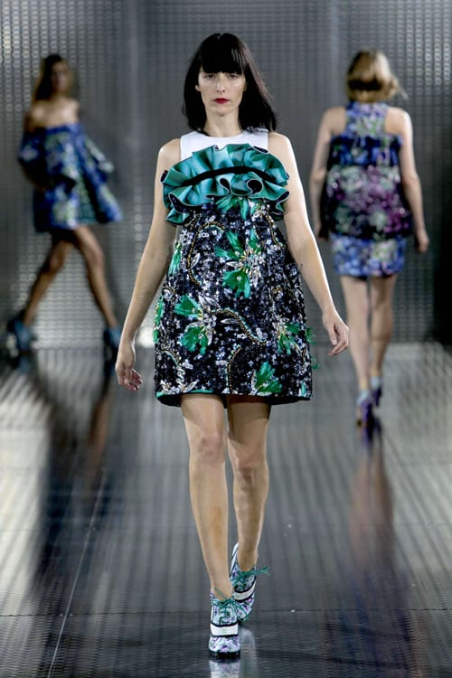Mary Katrantzou's Spring/Summer 2014 collection featuring stunning floral dresses