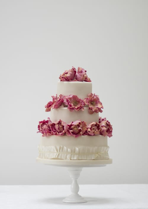 Rosalind Miller Wedding Cakes - Peonies and Ribbons