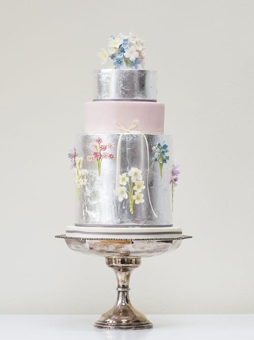 Rosalind Miller Wedding Cakes - Silver Sprigs
