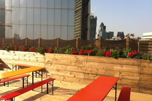 The-Exchange-London-Roof-Terrace-at-Rooftop-Cafe-conde-nast-traveller-Indoor-Garden-Design