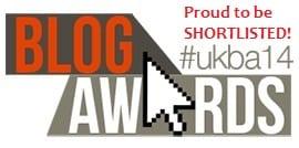 National UK Blog Awards Shortlisted
