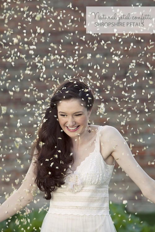 Natural petal confetti by Shropshire Petals…eco-friendly, biodegradable & beautiful!