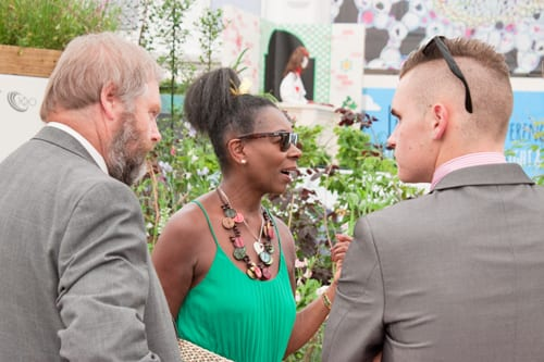 Celebrities-&-Behind-the-Scenes-on-Press-Day-RHS-Chelsea-Flower-Show-2014-Flowerona-Floella-Benjamin