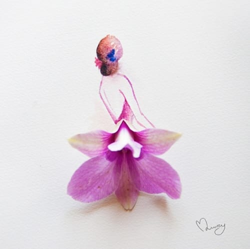 Whimsical Flower Art by Lim Zhi Wei of Love Limzy