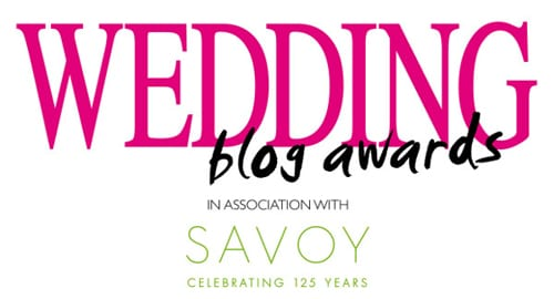 Wedding Magazine Blog Awards 2014 in association with The Savoy