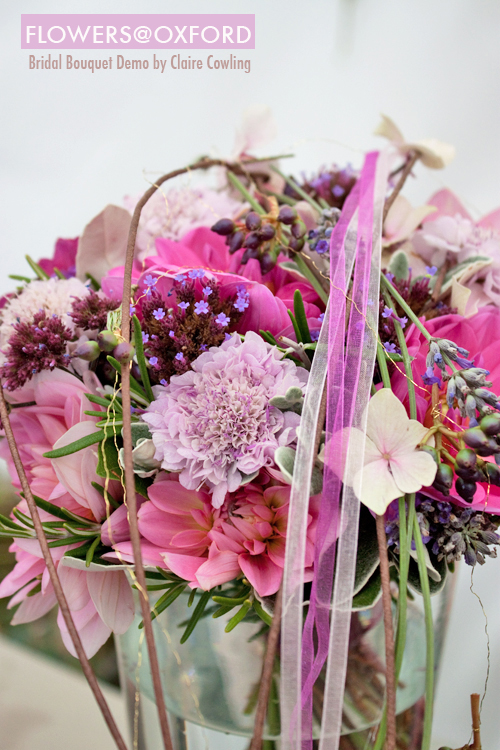 Flowers@Oxford : Bridal Bouquet Demo by Claire Cowling – Part 1