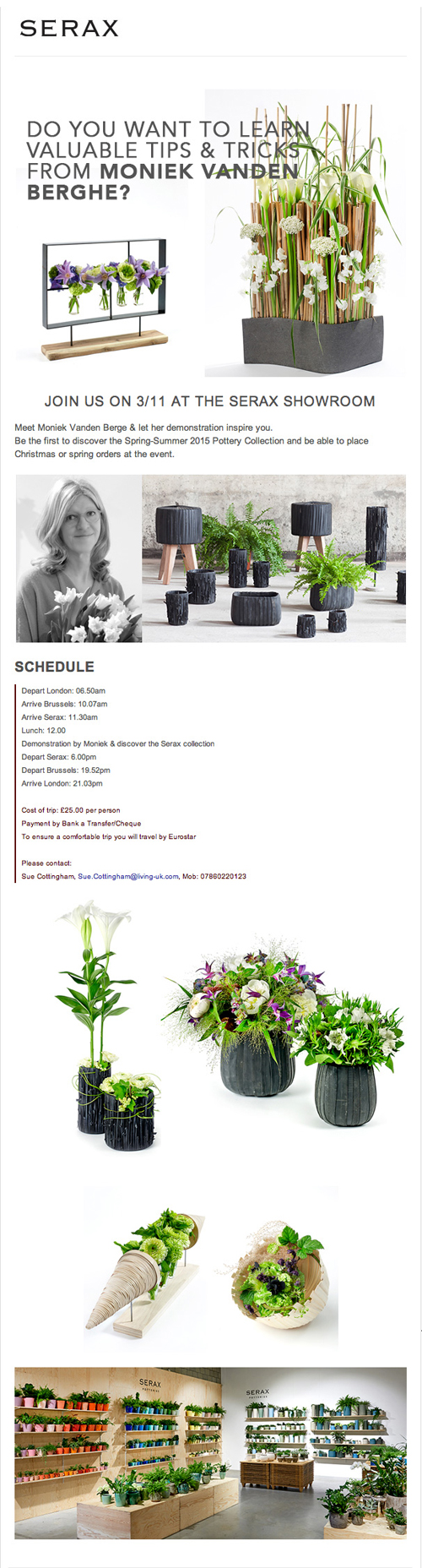 Florists…would you like to visit the Serax HQ in Belgium next month?