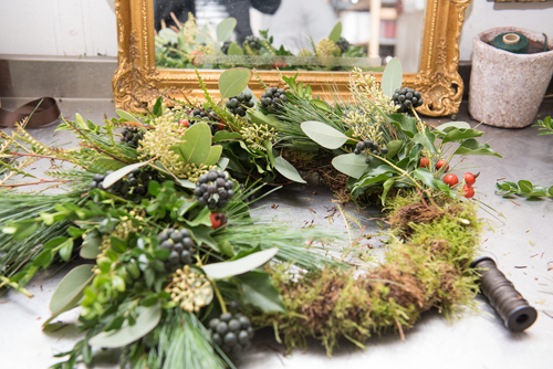 Christmas Wreath-Making Workshops at Blue Sky Flowers in London