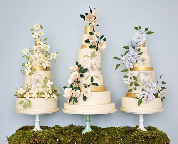 Wedding Wednesday : The Botanical Collection by Rosalind Miller Cakes