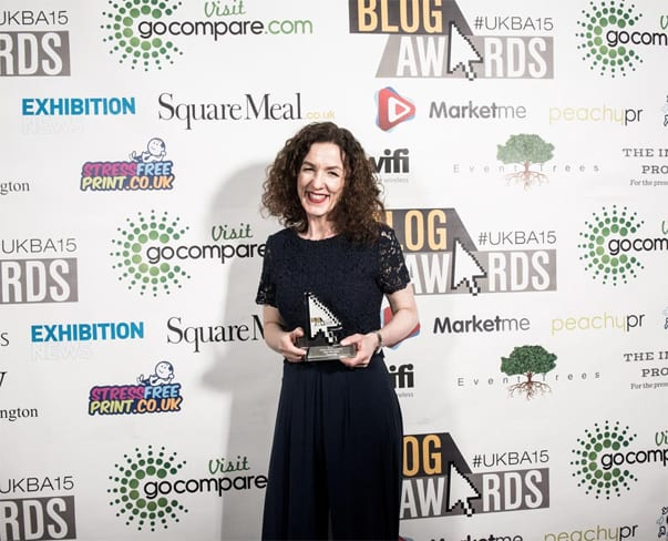 Flowerona wins the Individual Wedding Category at the UK Blog Awards 2015!