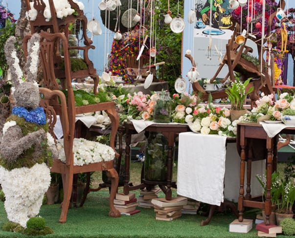 RHS Chelsea Flower Show 2015 – Mad Hatter's Tea Party design by Simon Lycett