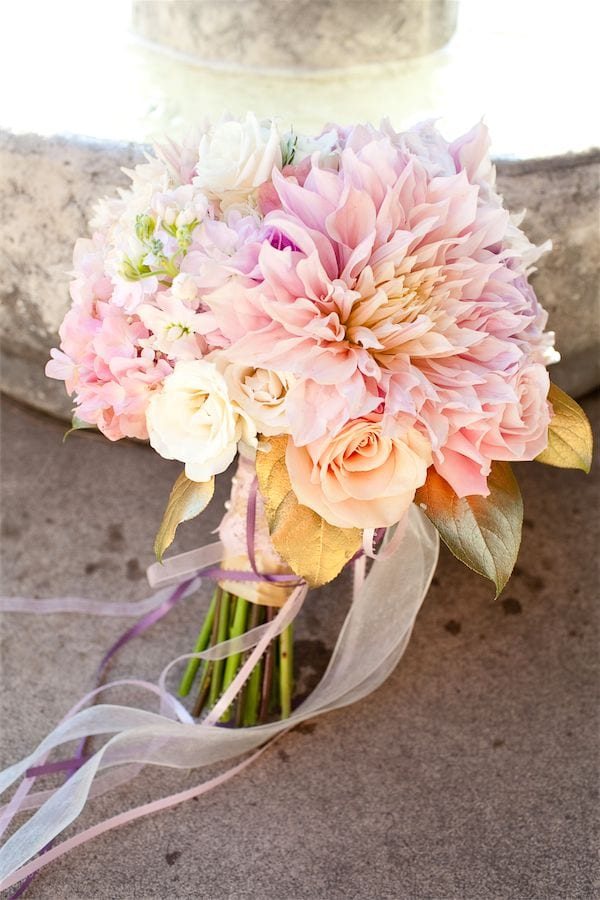 Cafe au lait dahlia wedding bouquet Anastasia Floral Design