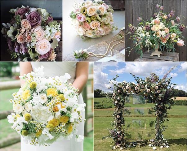 Wedding Wednesday : Lots of wedding flowers inspiration via #floweronawedding on Instagram