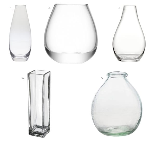 Five-Clear-Glass-Vases-Flowerona 4