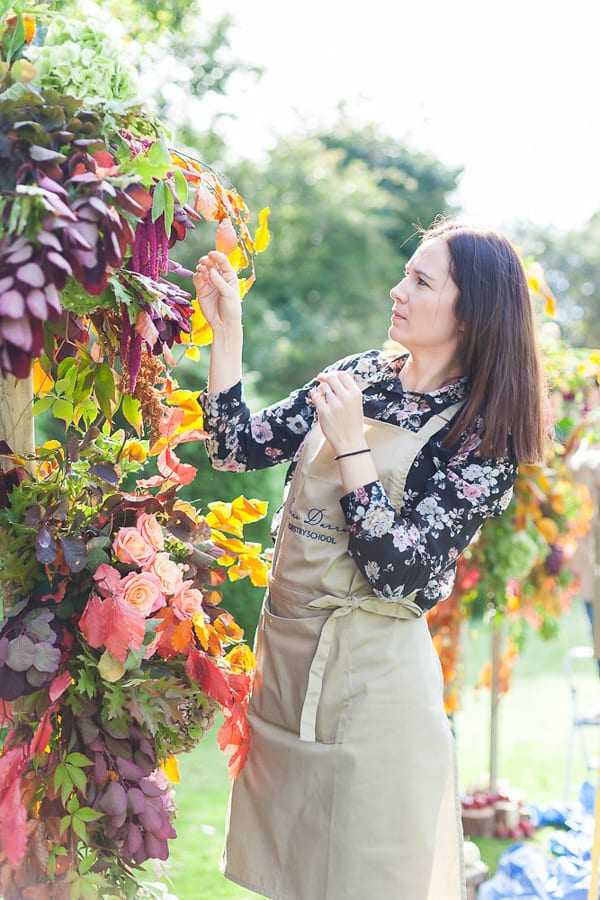 Sabine Darrall Flower School 3 Weddings 3 Days Course Autumn 2015 Katie Spicer The Floral Alchemist Flowerona-24