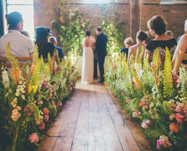 When a florist gets married…Rachel Husband of The Rose Shed