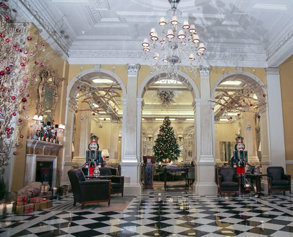 Florist McQueens' breath-taking Christmas installation at Claridge's in London