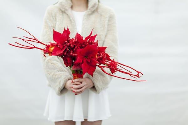 Wedding Wednesday 5 Beautiful Poinsettia Bouquets For Winter Weddings
