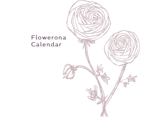Flowerona Calendar 2016