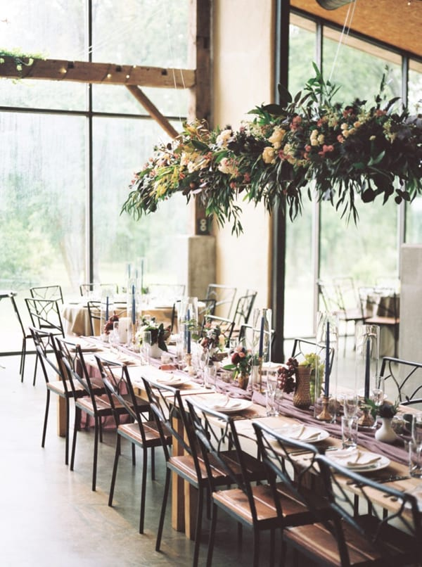 Hanging-Wedding-Centerpiece-Feather-&-Twine