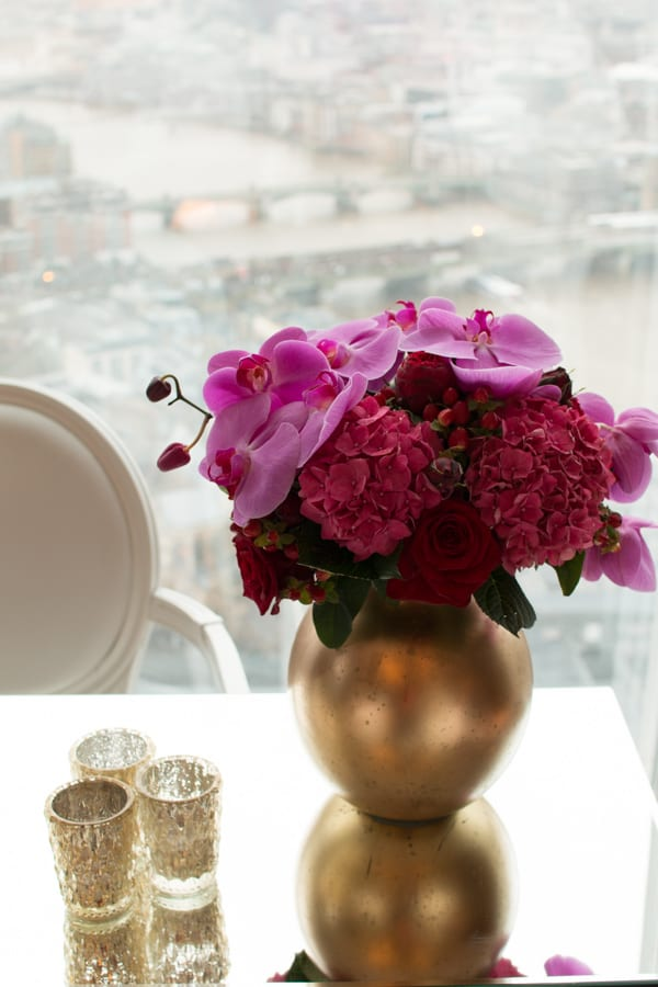 Laura Kuy The Shard Shangri La Hotel London Wedding Flowers Flowerona-18